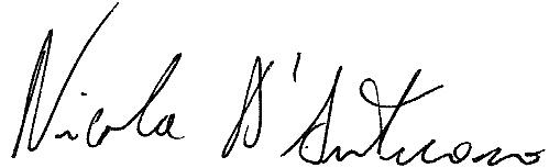 Firma Istituzionale Nicola D'Antuono